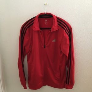 Adidas red jacket (:
